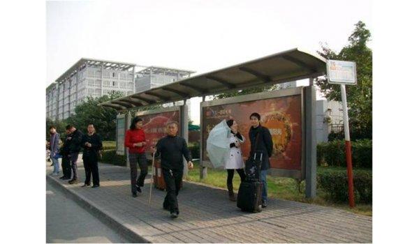成都市郫县公交站台广告