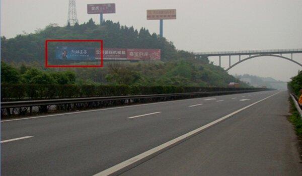 成都成南高速1895.8km大牌广告