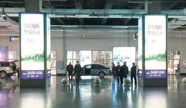 乐山高铁站客运总站、公交总站、高铁站共用停车场柱体灯箱广告位