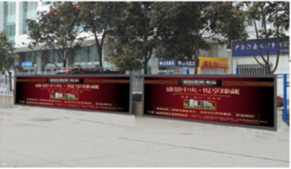 南充火车站站前广场右侧嵌入式灯箱广告位