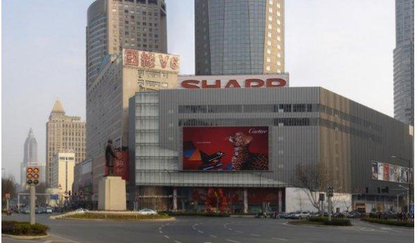 南京市新街口新百百货墙面led广告