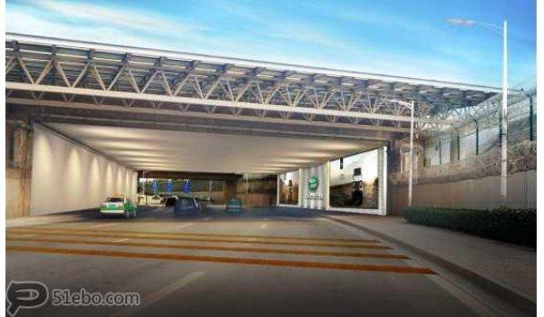 西安市咸阳国际机场西线进出场路桥通道灯箱
