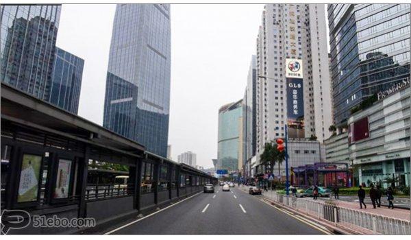 广州市天河路广梅汕大厦西向墙面大牌