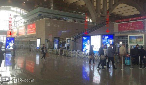 内江市资中北高铁站安检口滚动灯箱广告