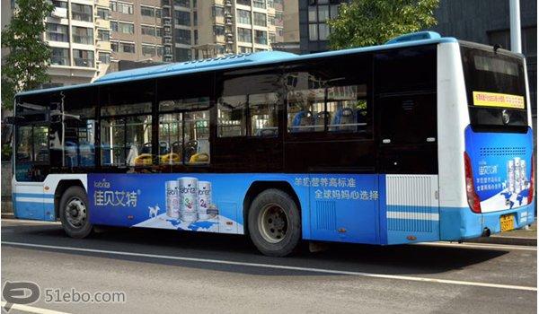 长沙市城区公交车两侧及车尾广告