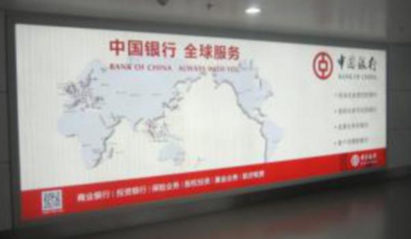 银川河东国际新机场二层国内出发灯箱广告YCA15-1.YCA16-2