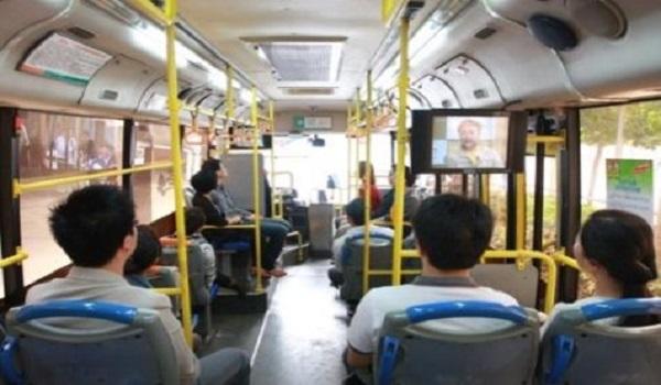 南京市公交车电视广告