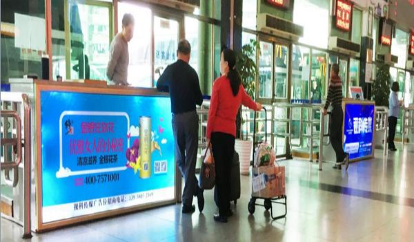 杭州市汽车南站旅客上车处检票口灯箱广告位-易播网