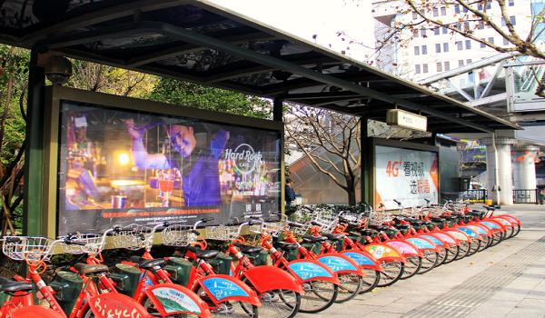 杭州市市区各大公共自行车亭单面大灯箱套餐广告位-易播网