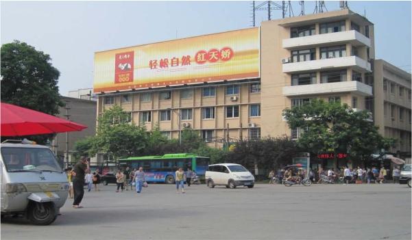 火车站(转运楼)大楼户外三面翻广告牌-易播网