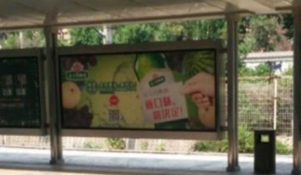 长春市轻轨站台灯箱广告
