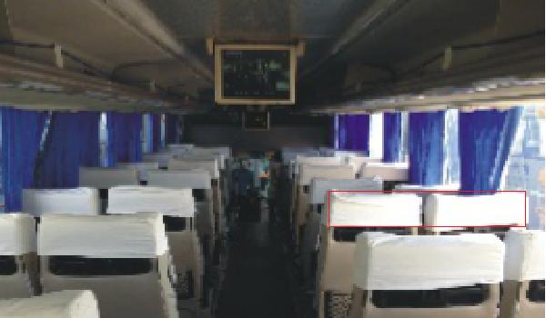 南京市客运大巴车内座椅头套广告