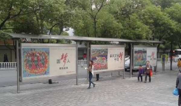 宜昌市城区公交候车亭灯箱广告-易播网