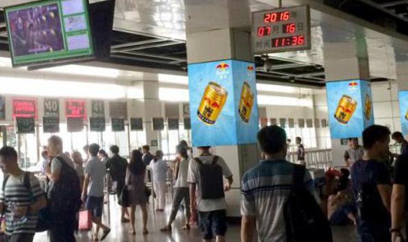 广州市滘口客运站B候车区包柱框架广告