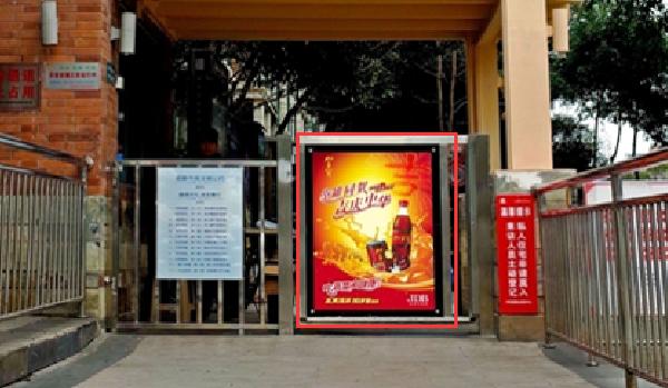 上海市社区进出口门禁灯箱广告