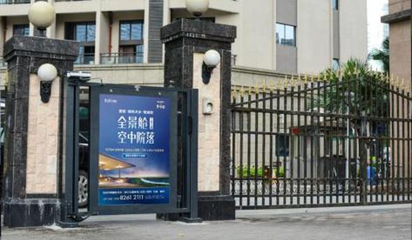 深圳市中高端楼宇进出门灯箱广告