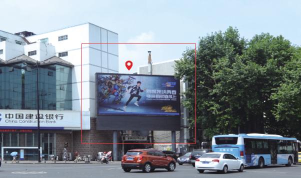 南京市中华路与长乐路交汇处西北角(夫子庙西大门)LED广告