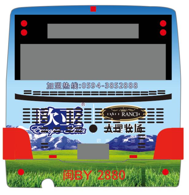莆田市公交车身广告