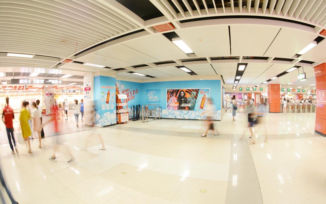成都地铁2号线春熙路主题墙贴A主题套装-易播网