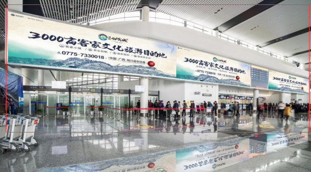 柳州市白莲机场T2航站楼二楼办票大厅LEDB-ED1广告