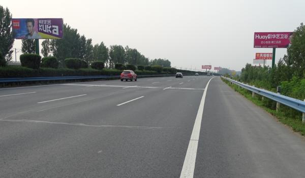 京珠高速K713长葛北单立柱
