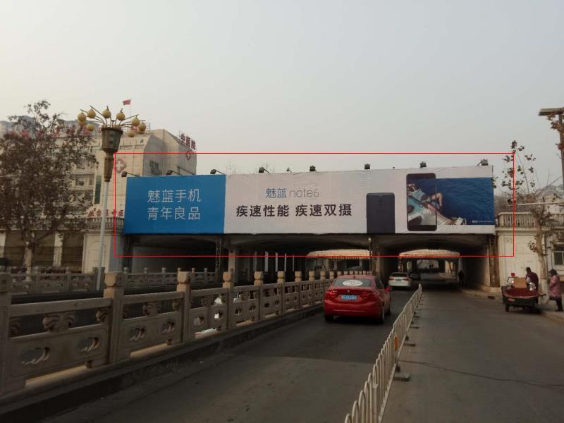 邯郸市人民路与浴新大街立交桥跨线桥大牌(人民路上东、西两面)-易播网