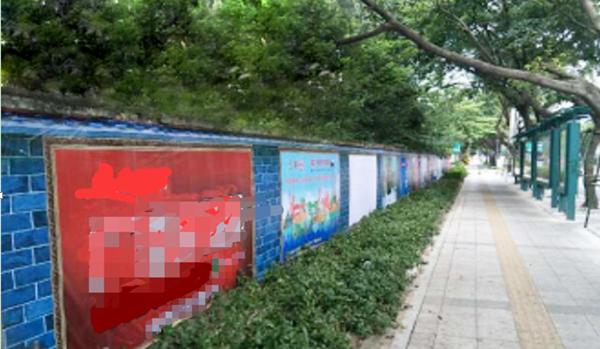 佛山市港口路北公交站围挡大牌广告-易播网
