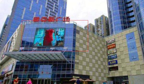 成都市天府城南核心商务区奥克斯广场墙面LED广告-易播网