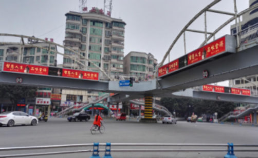 绵阳市三台新西门天桥LED广告