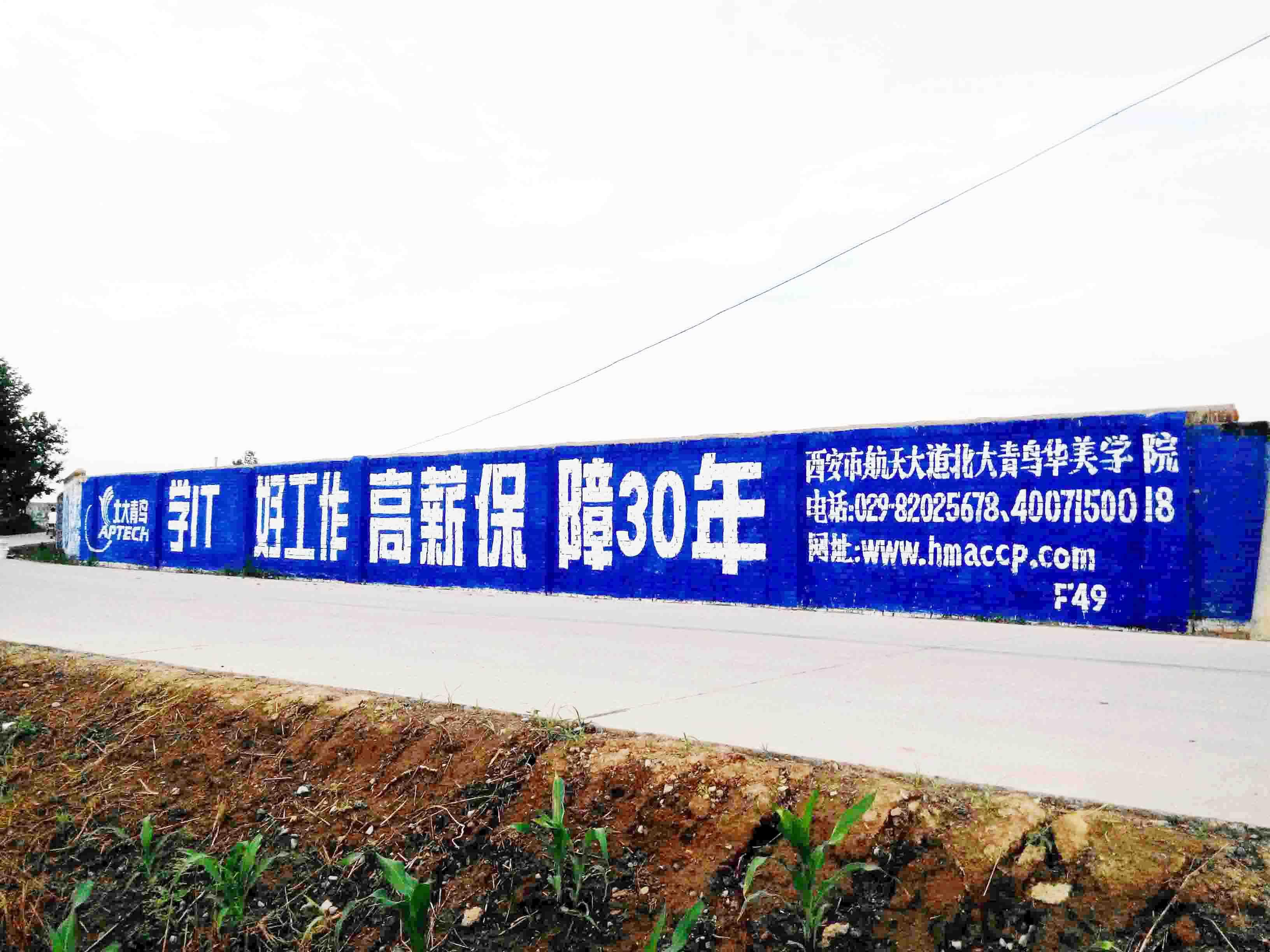 渭南墙体广告渭南墙体喷绘广告渭南户外墙体广告