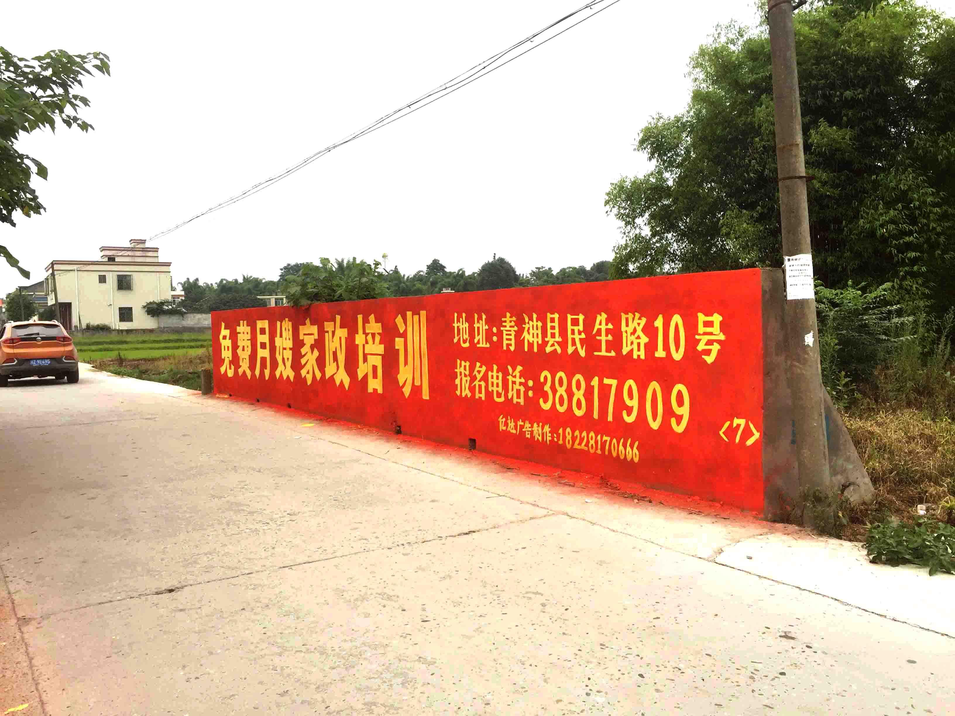 甘孜墙体广告制作甘孜刷墙广告宣传甘孜新农村标语广告                                        -易播网