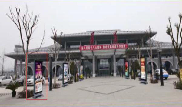 遵义市遵义新洲国际机场停车场竖式灯箱广告-易播网