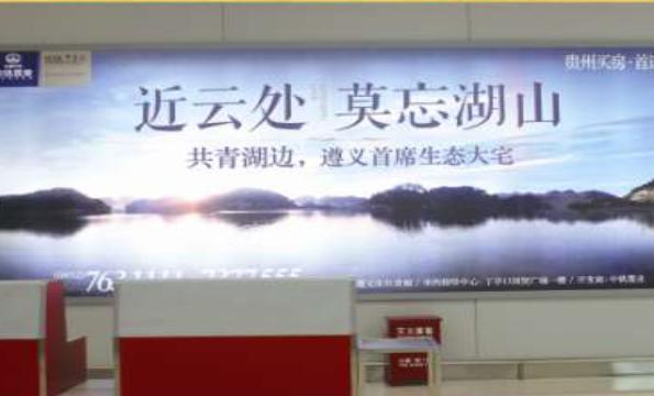 遵义市遵义新洲国际机场到达厅墙体灯箱广告-易播网