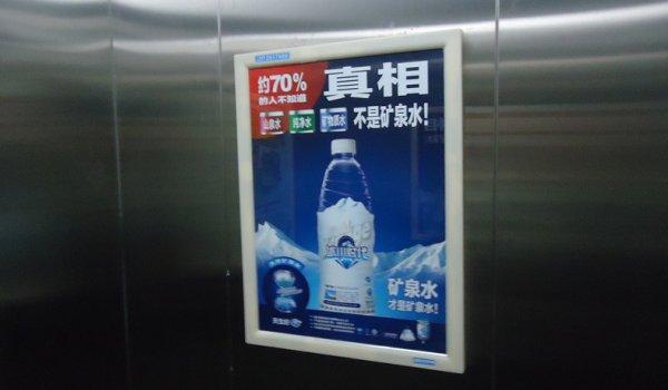 绵阳社区电梯轿厢框架广告位
