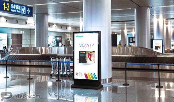 长沙黄花国际机场到达层滚动灯箱广告