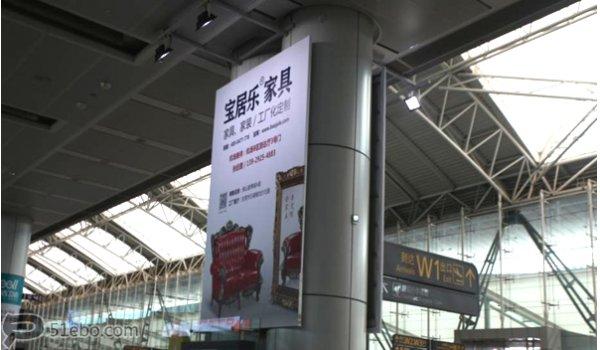 广州白云机场行李到达区空中看板广告