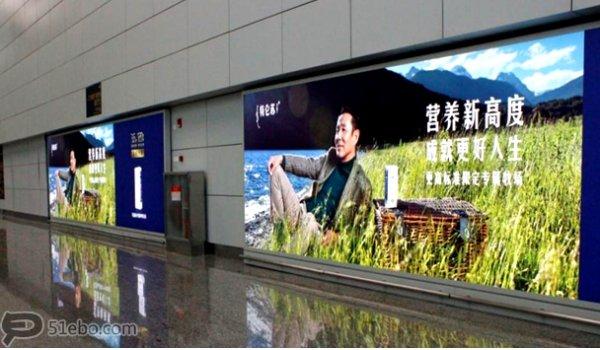 广州白云机场到达等候区灯箱广告