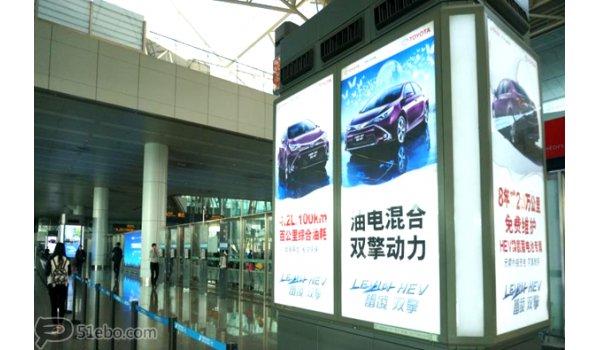 广州白云机场到达行李区包柱灯箱广告