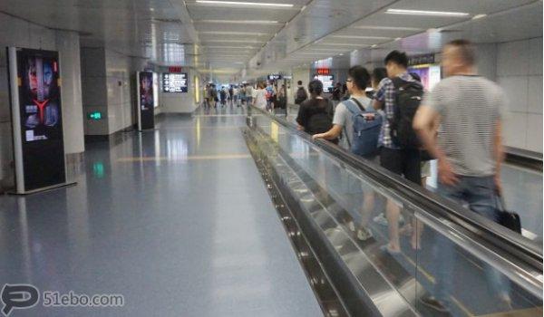 重庆江北国际机场国内到达国内候机楼港夹层52英寸ADF
