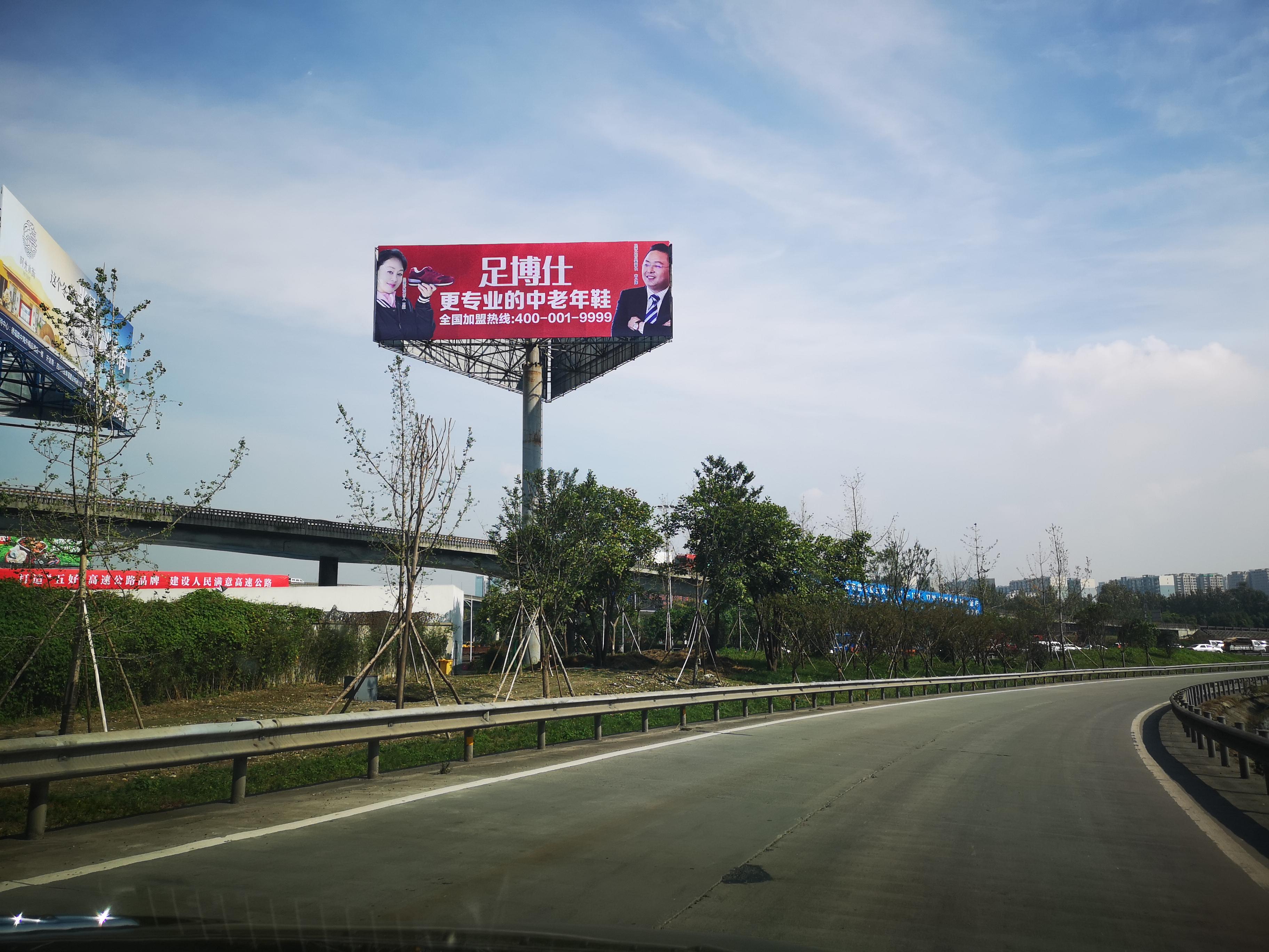 成雅高速5.9单立柱(与绕城交汇处)