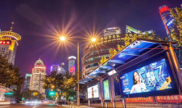 成都市公交站台灯箱广告-易播网