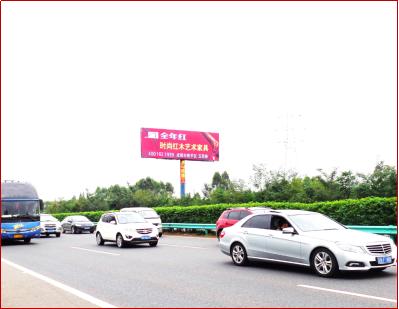 成自泸高速成都段K12+150左侧单立柱广告
